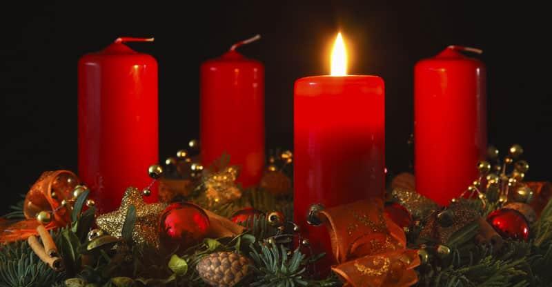 Levande ljus- adventsljus