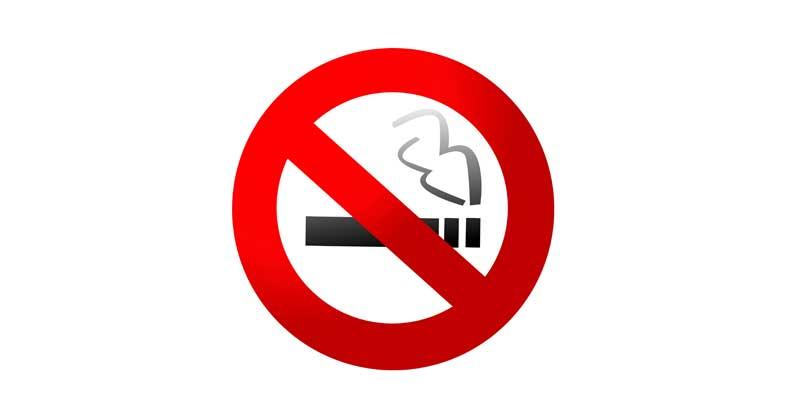 Skylt- rökning förbjuden